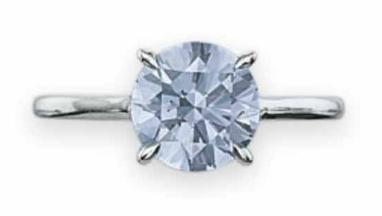 1.74 carat Fancy Intense Blue VVS1 diamond