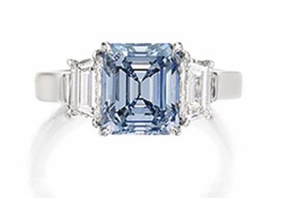 2.11 carat Fancy Intense Blue VVS1 diamond