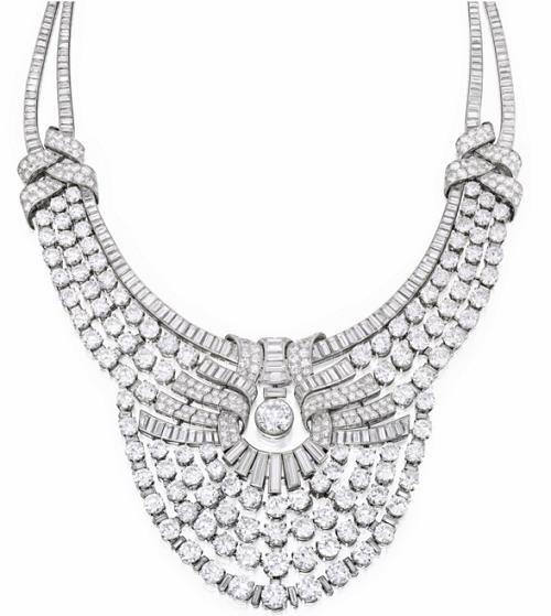 217 carat Van Cleef & Arpels diamond necklace