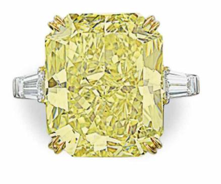 30.48 carat Fancy Vivid Yellow VS2 diamond