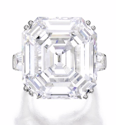38.27 carat D color VVS2 emerald cut diamond