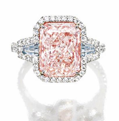 4.06 carat Fancy Light Pink IF diamond
