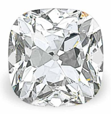 43.79 carat D color VS1 cushion shaped diamond