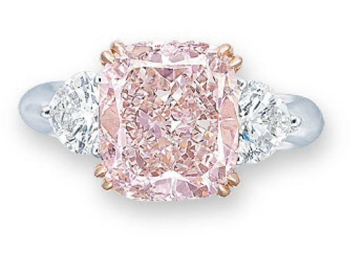5.22 carat Fancy intense Pink cushion shaped diamond