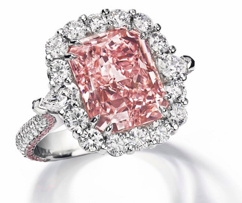 7.07 carat Fancy Intense Pink diamond