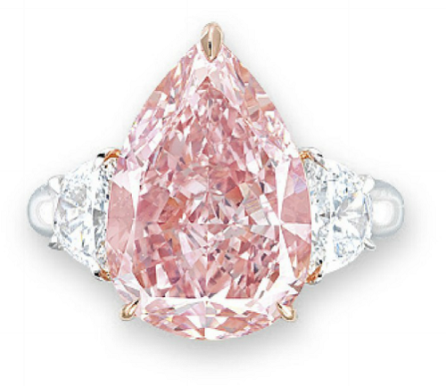 7.53 carat Fancy Intense Pink VS2 diamond