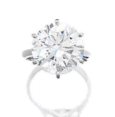 9.24 carat G color VS1 round brilliant diamond