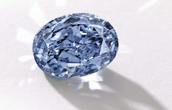 10.10 carat fancy vivid blue oval shaped diamond