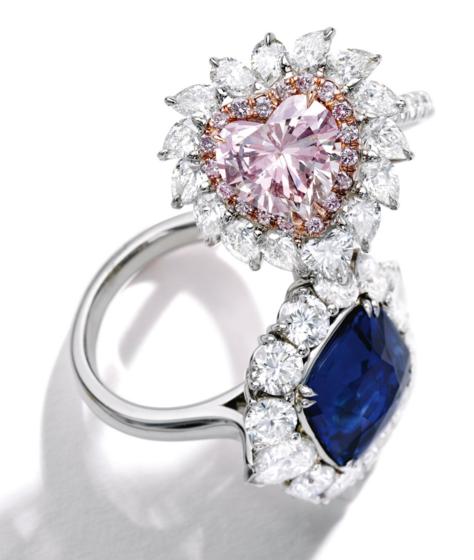 2.72 carat Fancy Pink SI1 diamond ring