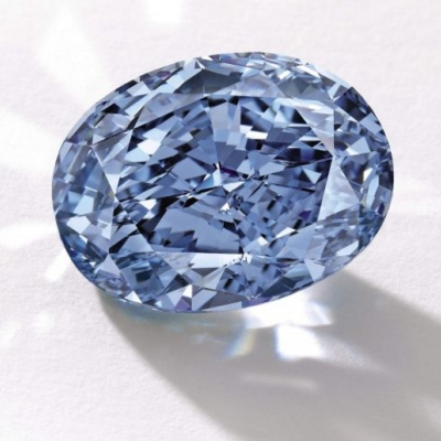 Largest, 10.10 carat, Fancy Vivid Blue, Oval, Diamond Targeted at Wealthy Hong Kong Collector at Auction