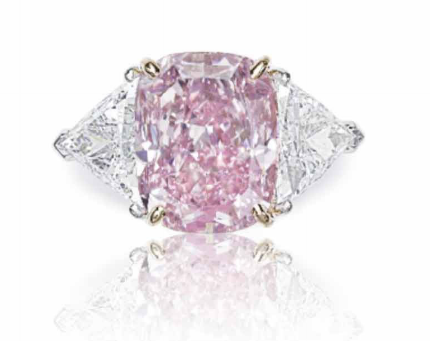 10.07 carat Fancy Intense Purple-Pink diamond