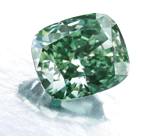 2.54 carat Fancy Vivid Green VS1 diamond