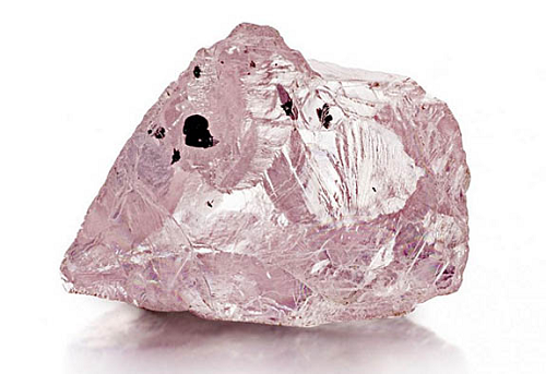 23.16 carat rough pink diamond