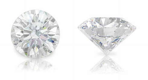 40.43 carat D color Flawless clarity round shaped diamond