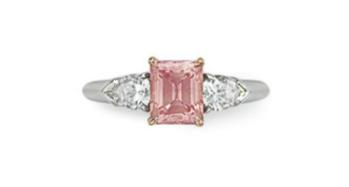 0.98 carat Fancy Intense Pink