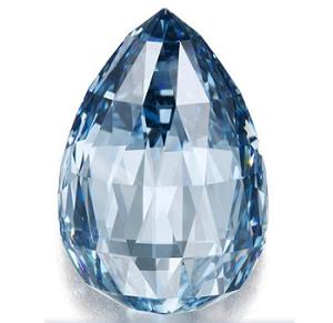 10.48 carat Fancy Deep Blue diamond sold by Sotheby's