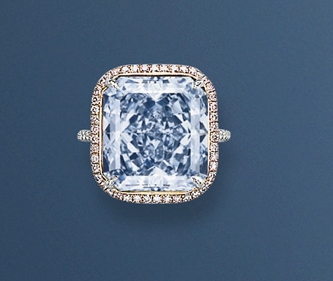13.39 carat fancy intense blue diamond