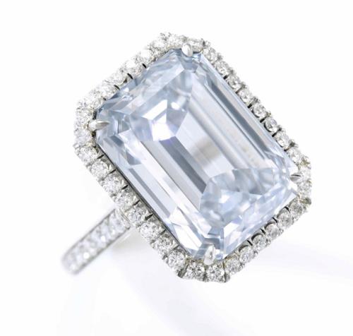 14.18 carat Fancy Blue diamond