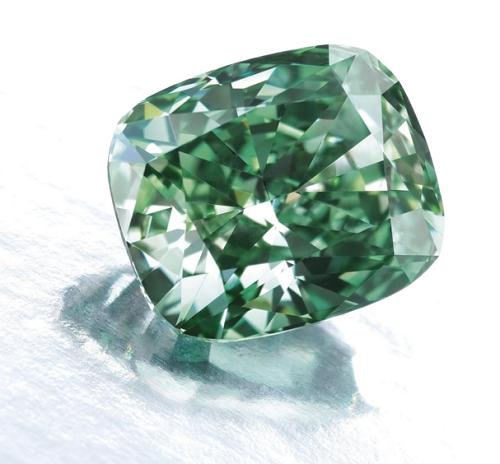 2.52 carat Fancy Vivid Green VS1 diamond