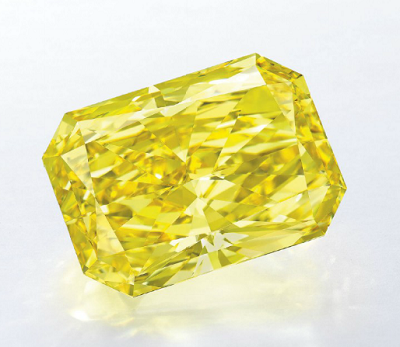 21.97 carat Fancy Vivid Yellow diamond by Graff Diamonds