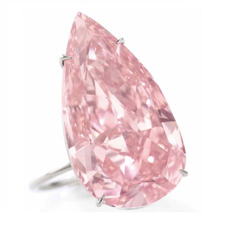 The 15.38 carat Fancy Vivid Pink 'Unique Pink' diamond