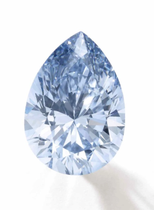 The 6.03 carat Fancy Intense Blue IF diamond