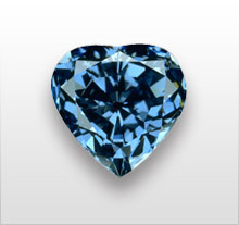 blue-heart diamond