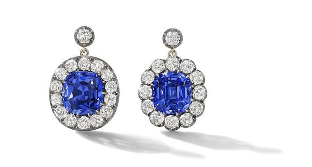 bonhams sapphire earrings