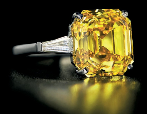 10.30 carat fancy vivid orangy yellow diamond