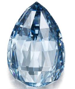 10.48 carat Fancy Deep Blue Diamond