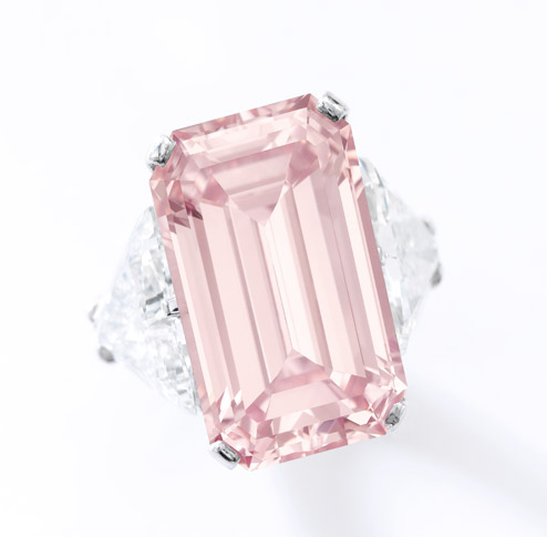 17.07 carat fancy intense pink vvs1 diamond