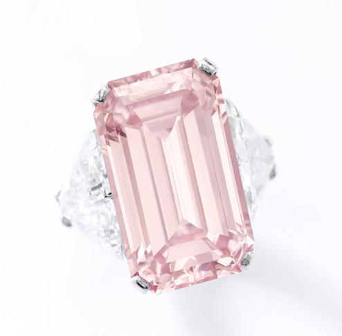 17.07 carat fancy intense pink vvs1 diamond
