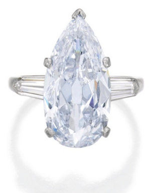 5.06 carat Fancy Light Blue VS2 pear shaped diamond
