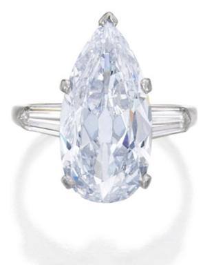 5.06 carat Fancy Light Blue VS2 pear shaped diamond