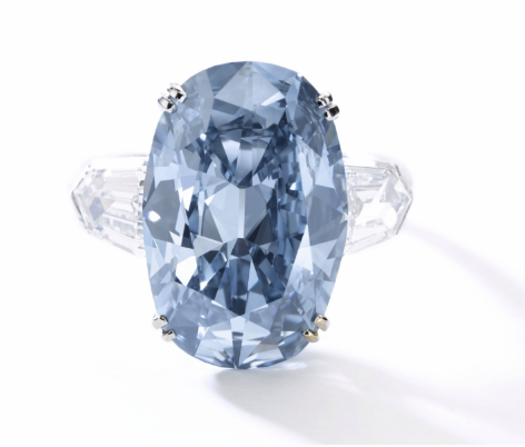7.74 Carat Fancy Deep Blue VVS1 oval shaped diamond