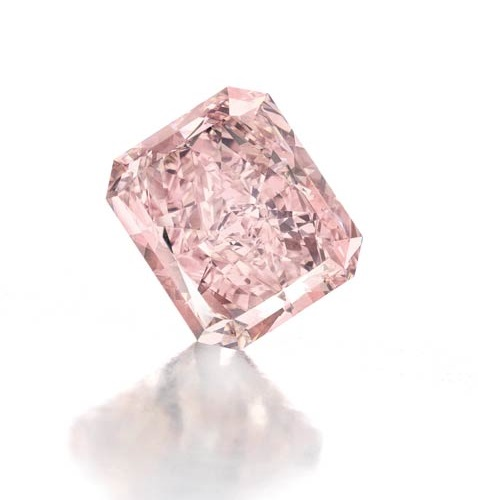 8.77 carat fancy intense pink diamond