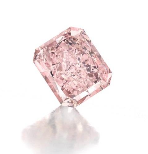 8.77 carat fancy intense pink diamond