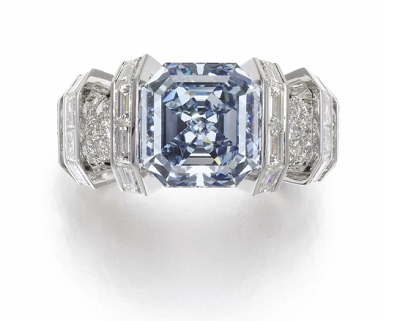 sky blue diamond ring