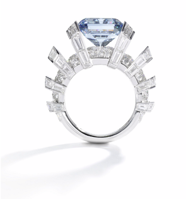 the sky blue diamond ring