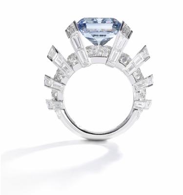 the sky blue diamond ring