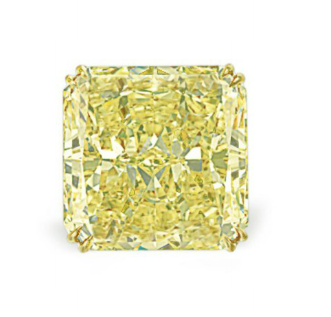 34.56 carat Fancy Intense Yellow VS1 diamond