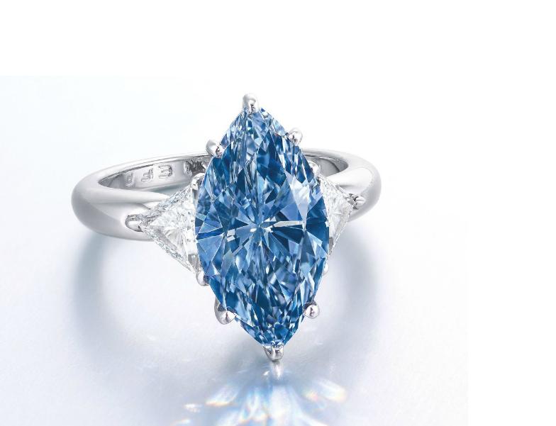Moussaieff fancy vivid blue IF diamond
