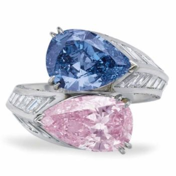 Magnificent Pink And Blue Diamonds At Christie's New York Auction