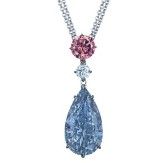 Christie's Steals The Spotlight With A Moussaieff Vivid Blue Diamond